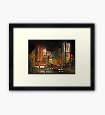 Alone in the City Framed Print
