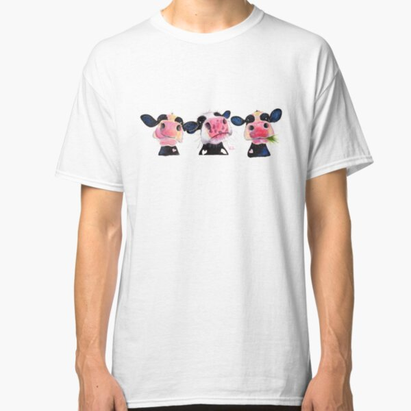 CoW PRiNT ' THe NoSeY CoWS ' by Shirley MacArthur Classic T-Shirt