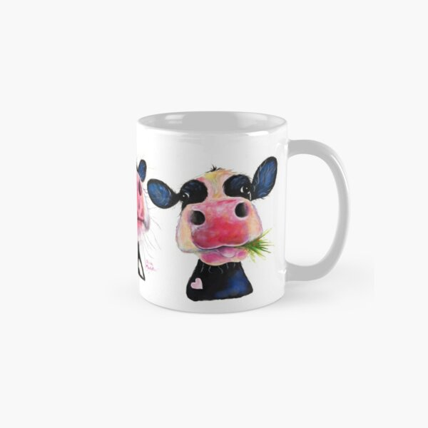 CoW PRiNT ' THe NoSeY CoWS ' by Shirley MacArthur Classic Mug
