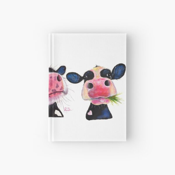 CoW PRiNT ' THe NoSeY CoWS ' by Shirley MacArthur Hardcover Journal