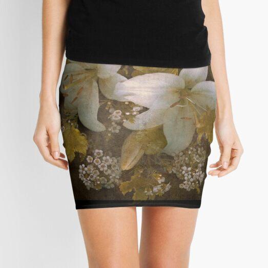 Golden Daylilies Mini Skirt