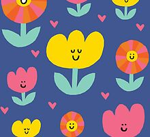 Happy Flowers by Amy Walters