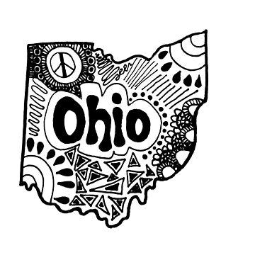 Ohio State Zentangle by alexavec