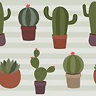Seamless Cactus Pattern by Pamela Maxwell