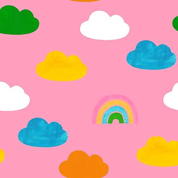 Cloudy Rainbows Pink by amywalters