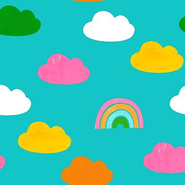 Cloudy Rainbow Blue by amywalters