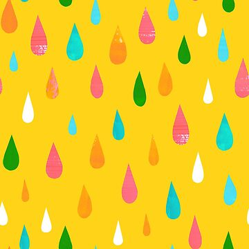 Rainbow Rain Yellow by amywalters