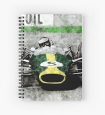 Jim Clark Spiral Notebook