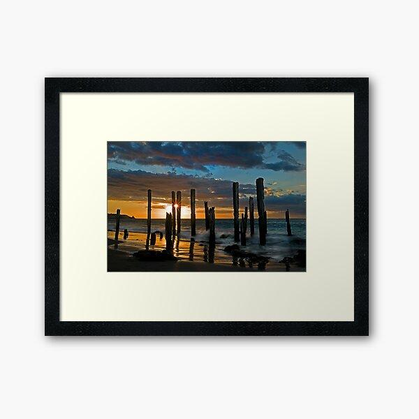Port Willunga Sunset 1 Framed Art Print