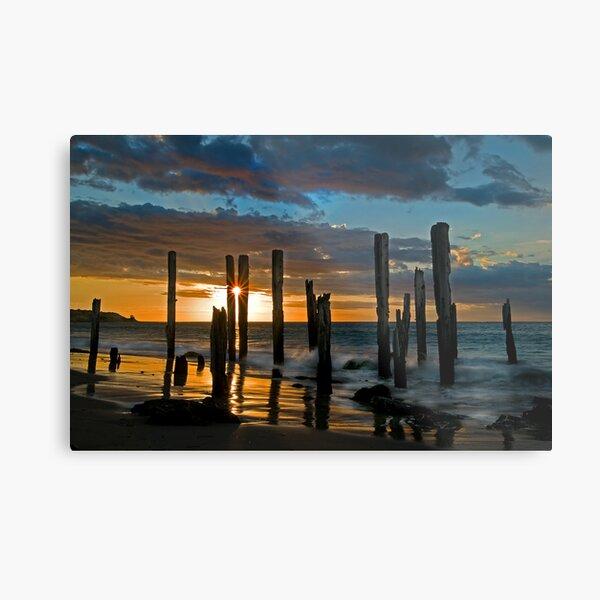 Port Willunga Sunset 1 Metal Print