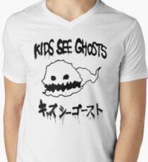 Kids See Ghosts Ghost Logo Men's V-Neck T-Shirt