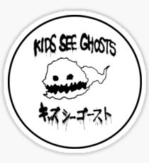 Kids See Ghosts Ghost Logo Sticker