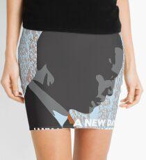 Barack Obama 'A New Day' - Unique Art Print Mini Skirt