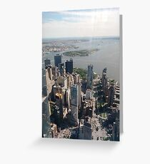 Manhattan, #Manhattan, New York, #NewYork, NYC, #NYC, New York City, #NewYorkCity Greeting Card