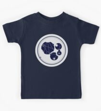 Live Long And Prosper. - in circular Gallifreyan from Doctor Who - Dark on white Kids Tee