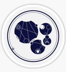 Live Long And Prosper. - in circular Gallifreyan from Doctor Who - Dark on white Sticker