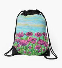 Crazy for Cosmos Drawstring Bag