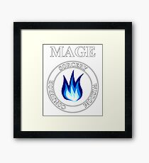 Mage Fantasy RPG Class Frost Magic Framed Print