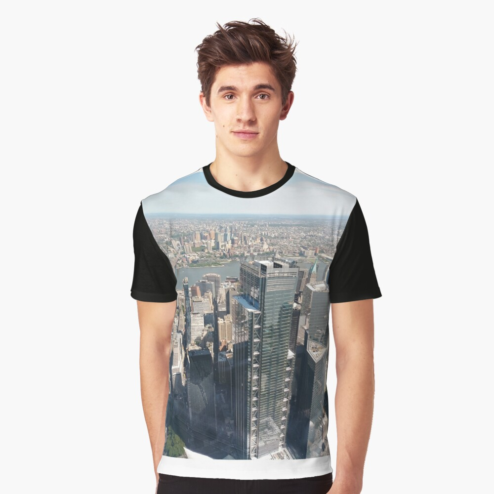 Manhattan, #Manhattan, New York, #NewYork, NYC, #NYC, New York City, #NewYorkCity Graphic T-Shirt Front