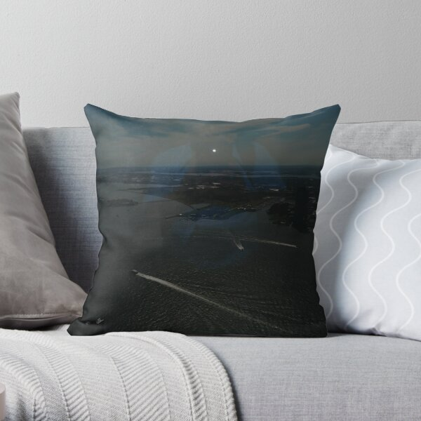 Manhattan, #Manhattan, New York, #NewYork, NYC, #NYC, New York City, #NewYorkCity Throw Pillow