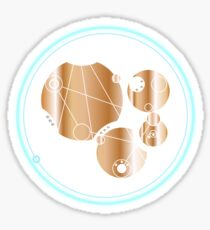 Live Long And Prosper. - in circular Gallifreyan from Doctor Who - Gold on Dark Sticker