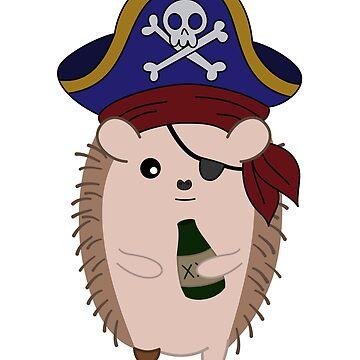 Pirate Hedgehog by Iceyuk