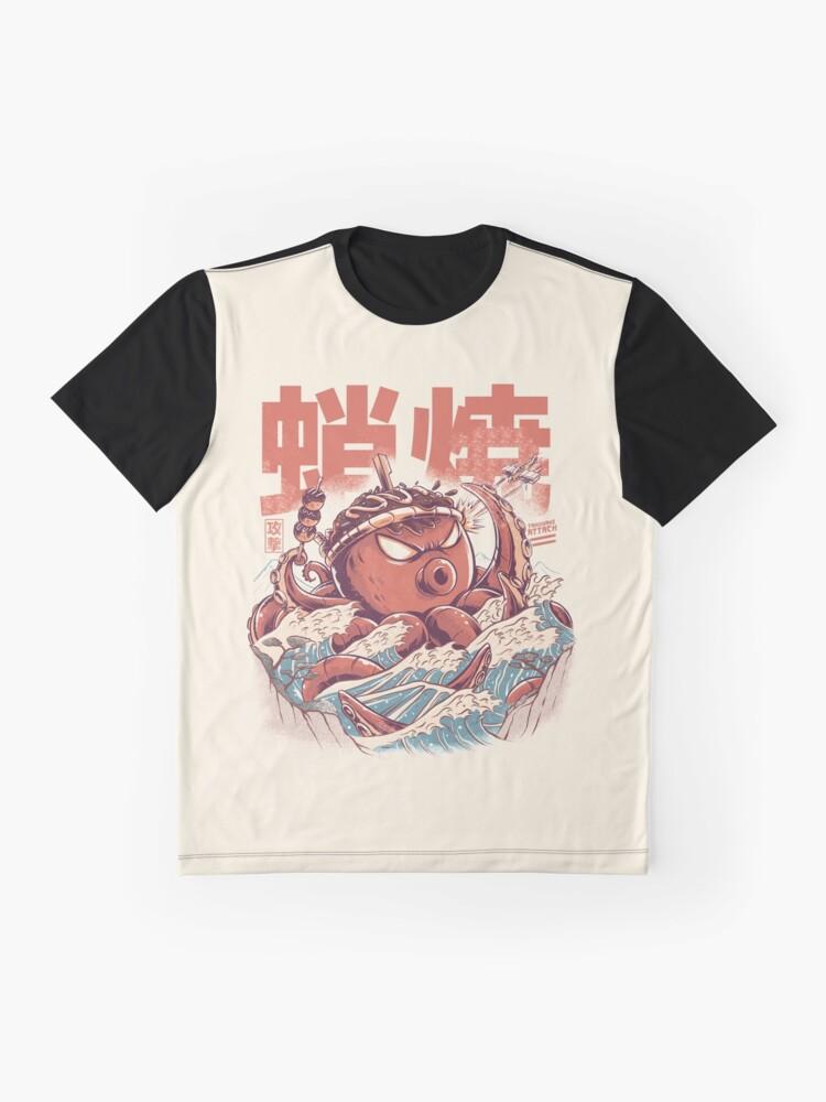 Alternate view of Takoyaki Attack Graphic T-Shirt