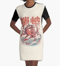 Takoyaki Attack Graphic T-Shirt Dress