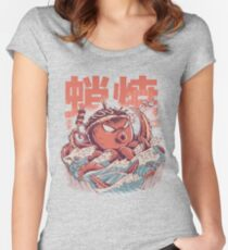 Takoyaki Attack Fitted Scoop T-Shirt