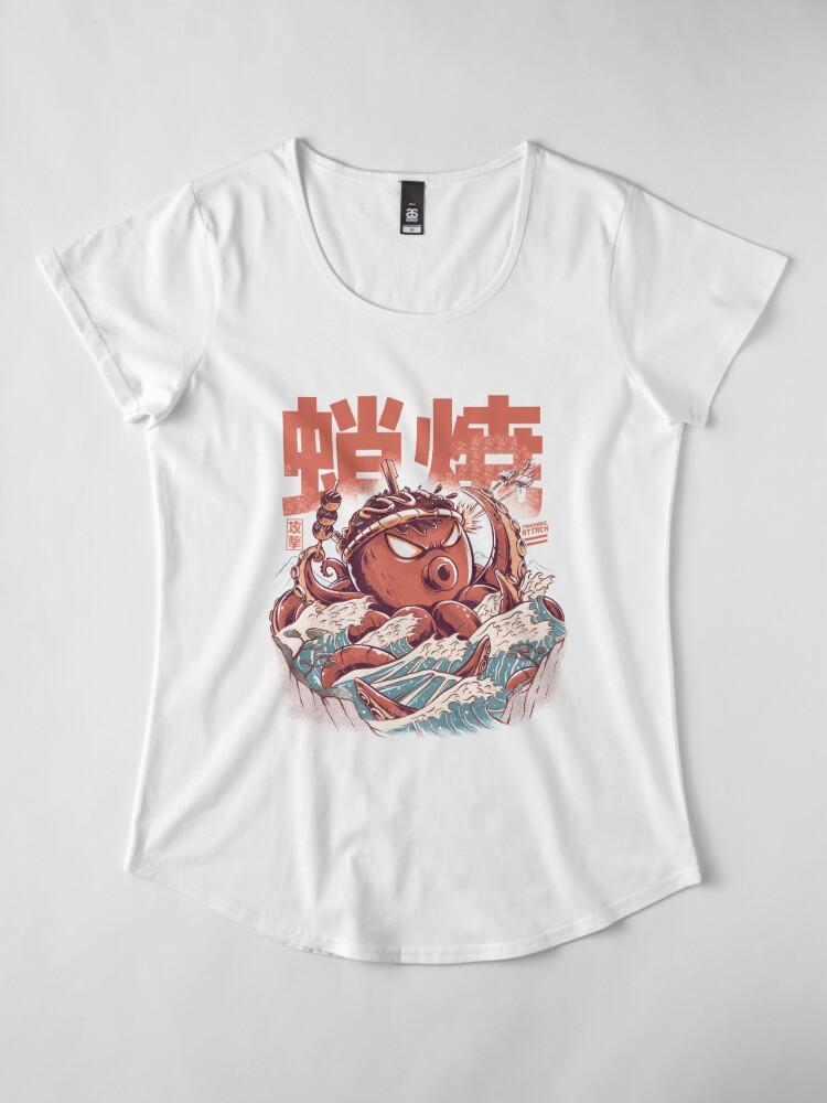 Alternate view of Takoyaki Attack Premium Scoop T-Shirt