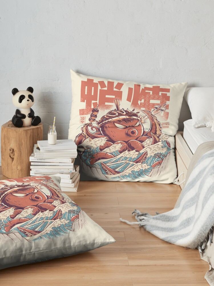 Alternate view of Takoyaki Attack Floor Pillow