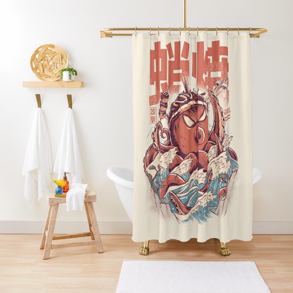 Takoyaki Attack Shower Curtain