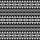 Aztec Stylized Pattern II WB by NataliePaskell