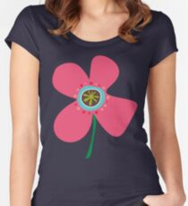 Pink Daisy Pop Women's Fitted Scoop T-Shirt