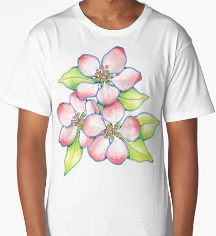 Apple Blossom Bouquet Long T-Shirt