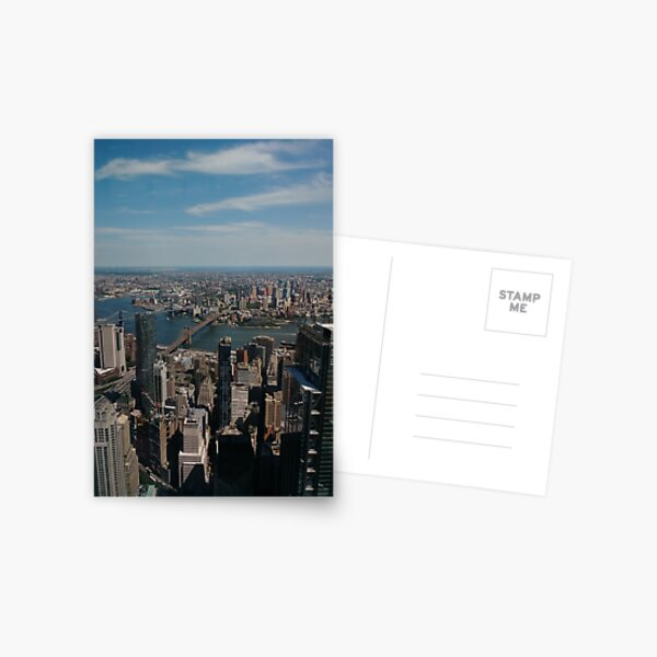 Manhattan, #Manhattan, New York, #NewYork, NYC, #NYC, New York City, #NewYorkCity Postcard