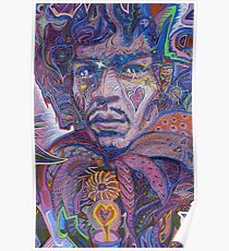 Jimi Psychedelic Haze Rock Poster Poster