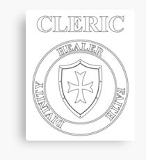 Cleric Fantasy RPG Class Healer Shield Canvas Print