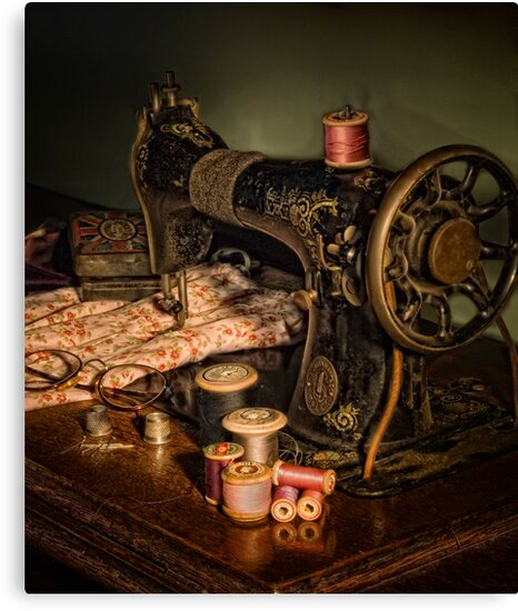 vintage sewing machine by Alf Caruana