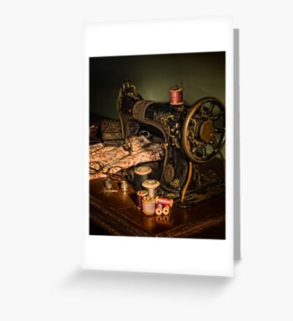 vintage sewing machine Greeting Card