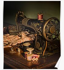 vintage sewing machine Poster