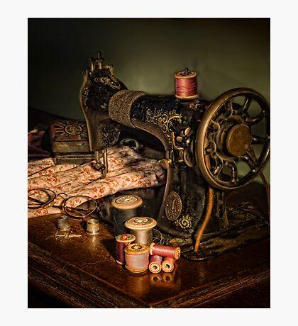 vintage sewing machine Photographic Print