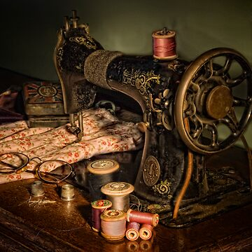 vintage sewing machine by utherpen