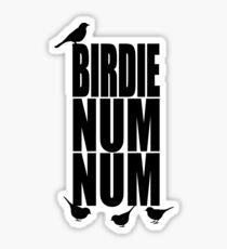 Birdie Num Num Sticker