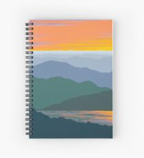 """Mountain Lake Reflections"" -134 Spiral Notebook"