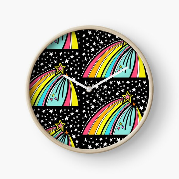 Shooting Stars Pattern 8 Clock