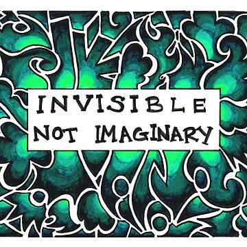 Invisible Not Imaginary (bright aqua) by Jezunya