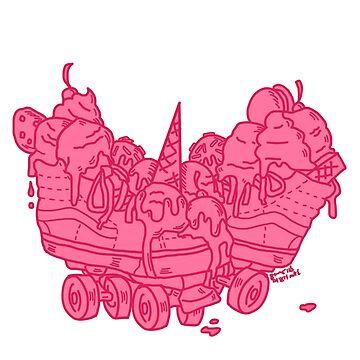 Ice Cream Trux (pink version) by DixxieMae