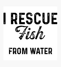 I rescue fish from water.  Photographic Print