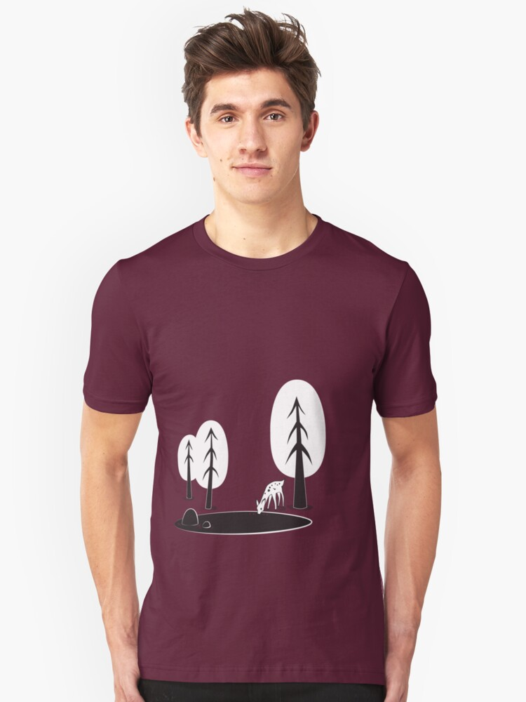 I always want to be in the woods Unisex T-Shirt Front